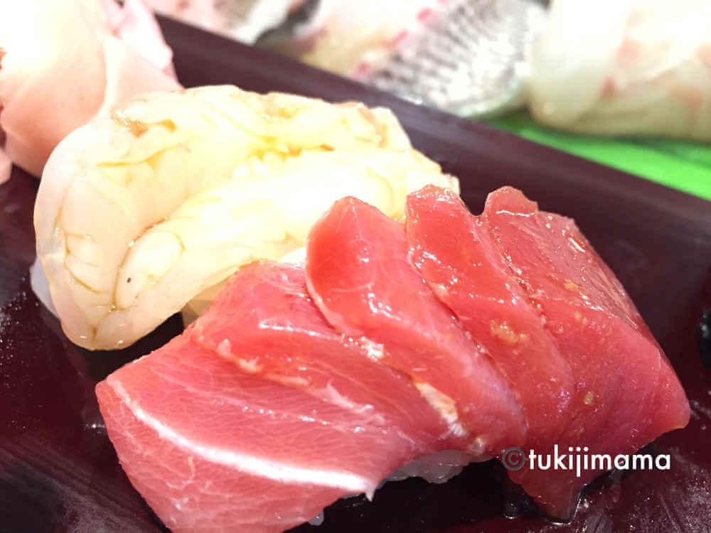 豊洲市場の寿司大の握り寿司