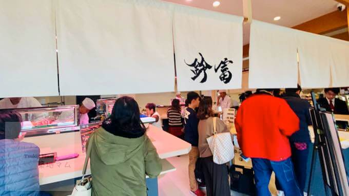 豊洲市場の江戸前城下町の寿司屋、店内の様子