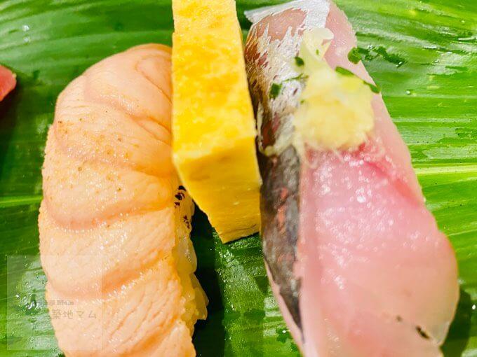 豊洲市場磯寿司の握り寿司
