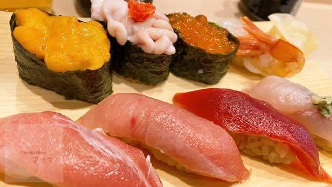 豊洲市場神楽寿司の握り寿司